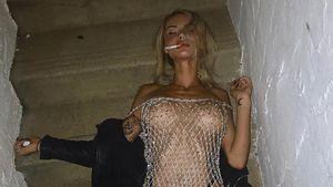 Zigarette danach: Ex-Bieber-Affäre Sahara zeigt ihre Brüste!
