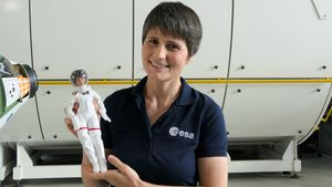 Schräg: Eine italienische Astronautin wird zur Barbiepuppe