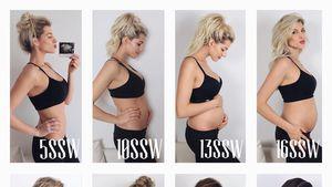 Babybauch im Zeitraffer: Sarah Harrison teilt Schwangerpics