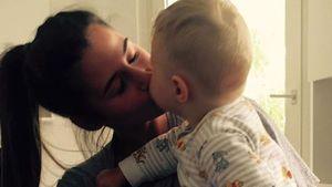 Sarah Lombardi knutscht ihren Sohn Alessio