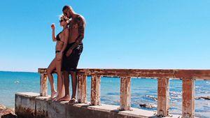 Sarah Nowak und Dominic Harrison im Urlaub