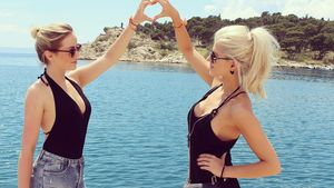Sarah Nowak und Liz Kaeber im Urlaub