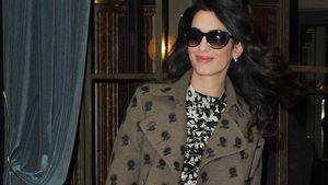 Schwangere Amal Clooney in Pairs