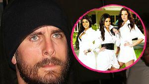 Scott Disick mit Kourtney, Kim und Khloe Kardashian