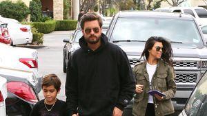 Scott Disick und Kourtney Kardashian mit Sohn Mason 2016
