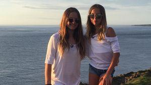 Shania und Davina Geiss am Meer