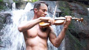 Shirtless Violinist Matthew Olson