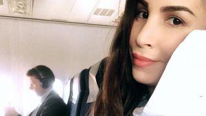 Bald-Mama Sila Sahin: Schwangere Grüße aus dem Flieger!