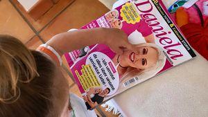 "Entdeckt! Sophia erkennt Mama Dani auf ihrem Heft ""Daniela"""