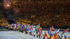 Olympia-Abschiedsfeier: Feuchtes Fest vor leeren Rängen