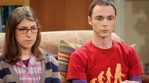 "Mayim Bialik und Jim Parsons bei ""The Big Bang Theory"""