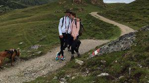 Traumpaar! Thomas Müller & Lisa total verliebt in den Bergen