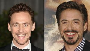 Schauspieler Tom Hiddleston und Robert Downey Jr.