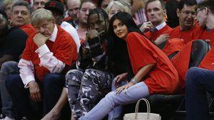 Travis Scott und Kylie Jenner beim NBA-Spiel