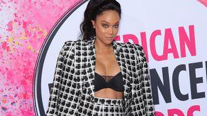 Schick oder Schreck? Model Tyra Banks im Allover-Karo-Look