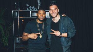 Lukas Podolski und Usher