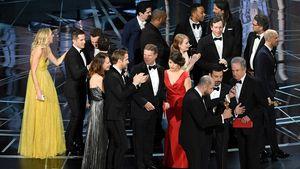 """Cast von """"La La Land"""" auf der Bühne bei der Oscarverleihung 2017"""