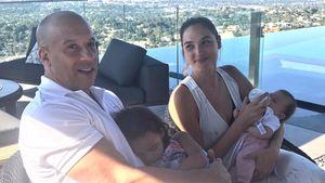 Vin Diesel mit seiner Tochter Hania Riley Sinclair und Gal Gardot mit ihrer Tochter Maya Versano