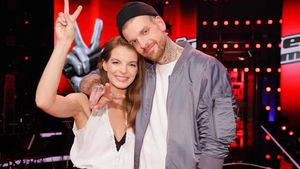 "Yvonne Catterfeld mit Boris Alexander Stein nach dem ""The Voice of Germany""-Halbfinale"