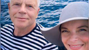 Im Boot mit Papa: Yvonne Catterfeld teilt privates Foto