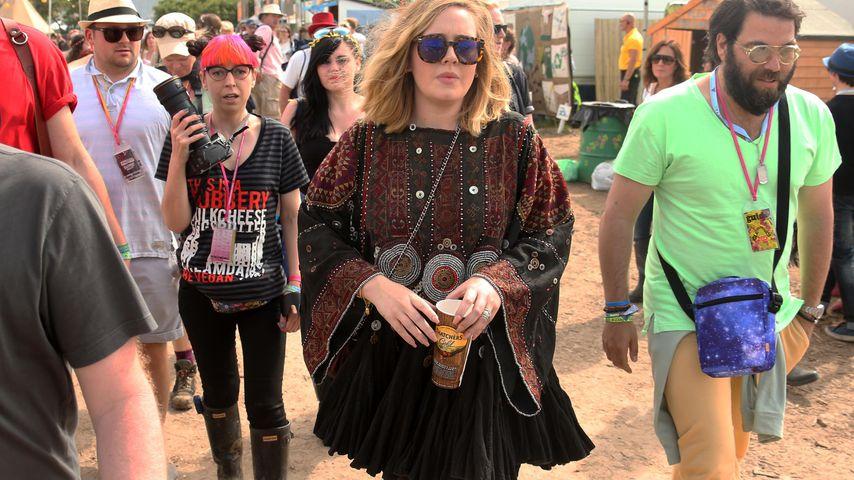 Adele und Simon Konecki bei Glastonbury Musikfestival 2015