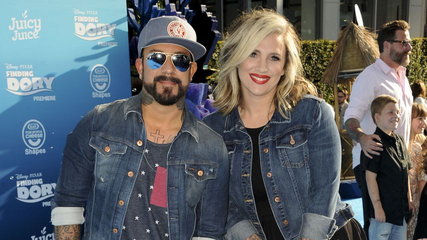 "AJ McLean, Ehefrau Rochelle Karidis & Tochter Ava bei der ""Findet Dory""-Premiere in Los Angeles"