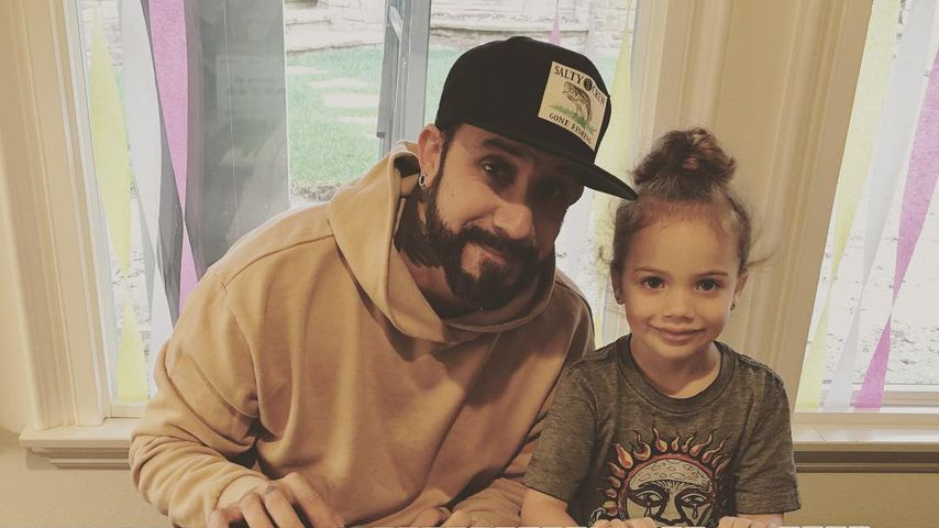 AJ McLean mit Töchterchen Ava