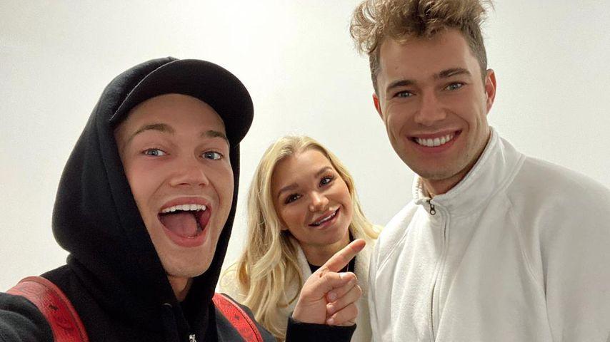 AJ Pritchard mit seiner Freundin Abbie und seinem Bruder Curtis