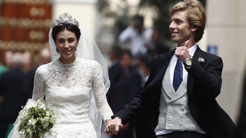 Prinzessin Alessandra und Prinz Christian von Hannover bei ihrer kirchlichen Trauung