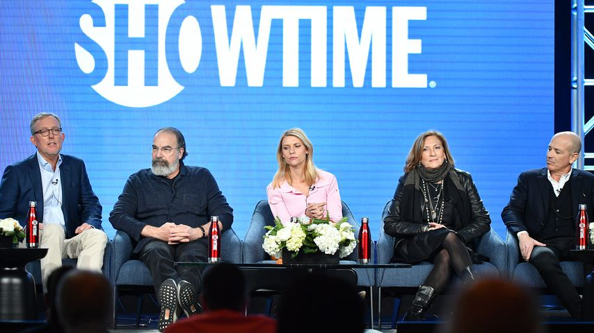 "Alex Gansa, Mandy Patinkin, Claire Danes, Lesli Linka Glatter und Howard Gordon, ""Homeland""-Cast"