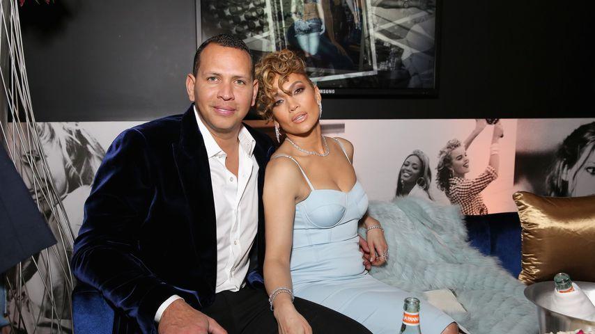 Alex Rodriguez und Jennifer Lopez beim Guess Spring 2018 Campaign Reveal