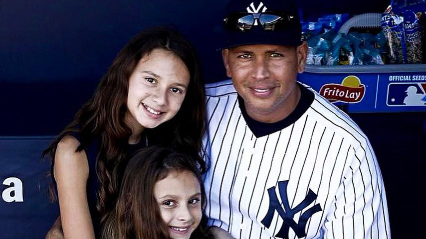 Alex Rodriguez und seine beiden Töchter Natasha und Ella