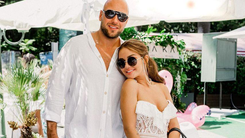 Alexander Beliaikin und Kim Gloss am Tag nach ihrer Hochzeit