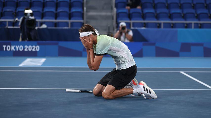 Alexander Zverev bei seinem Olympia-Sieg im Tennis-Einzelfinale, August 2021