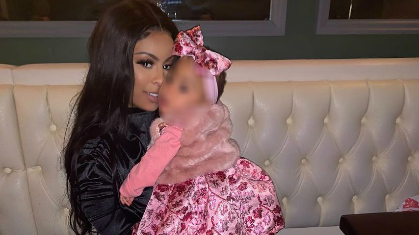 Alexis Skyy mit ihrer Tochter Alaiya im Januar 2019