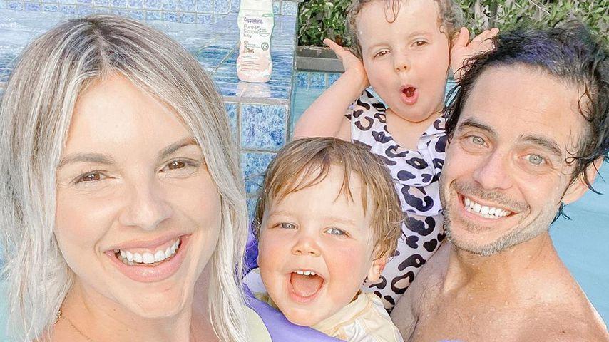 Ali Fedotowsky und Kevin Manno mit ihren Kindern Molly und Riley