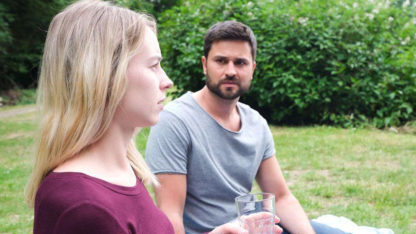 """Alica Hubiak und Milos Vukovic bei """"Unter uns"""", August 2020"""