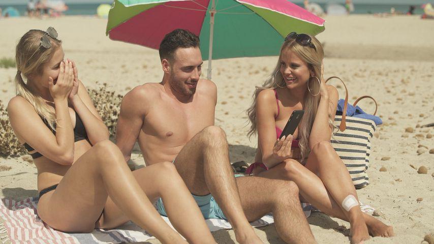 """Alina, Robin und Stephanie beim """"Love Island""""-Beachdate"""