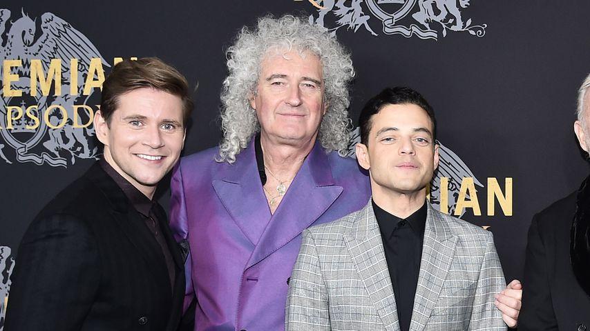 Allen Lee, Brian May und Rami Malek