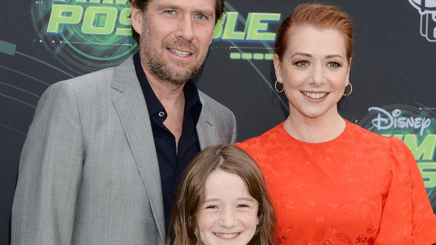 Alyson Hannigan mit ihrer Familie, Februar 2019