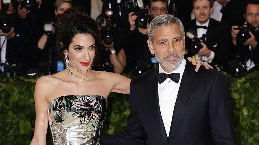Amal und George Clooney bei der Met Gala, 2018