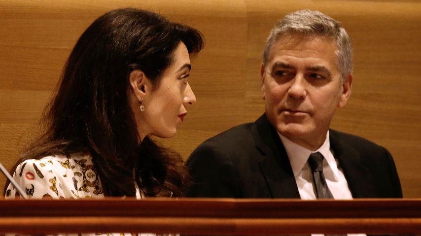 Amal und George Clooney bei einer Veranstaltung der Vereinten Nationen 2016