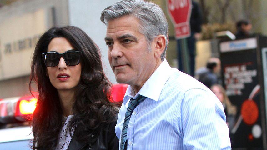 Ehe-Probleme? Hier besucht Amal ihren George Clooney am Set