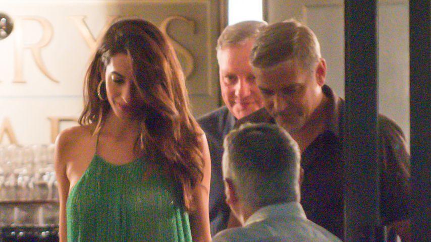 Amal und George Clooney in Cernobbio, Italien