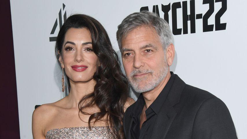 """Amal und George Clooney bei der England-Premiere von """"Catch 22"""""""