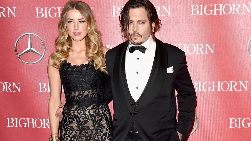 Hat Johnny Depp Champagnerflasche nach Ex Amber geworfen?