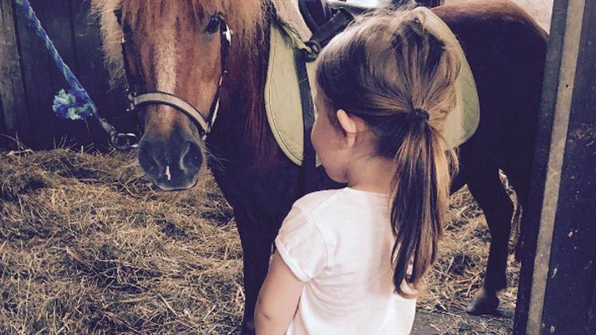 Total süß! Rocco Starks Tochter Amelia (3) lernt reiten