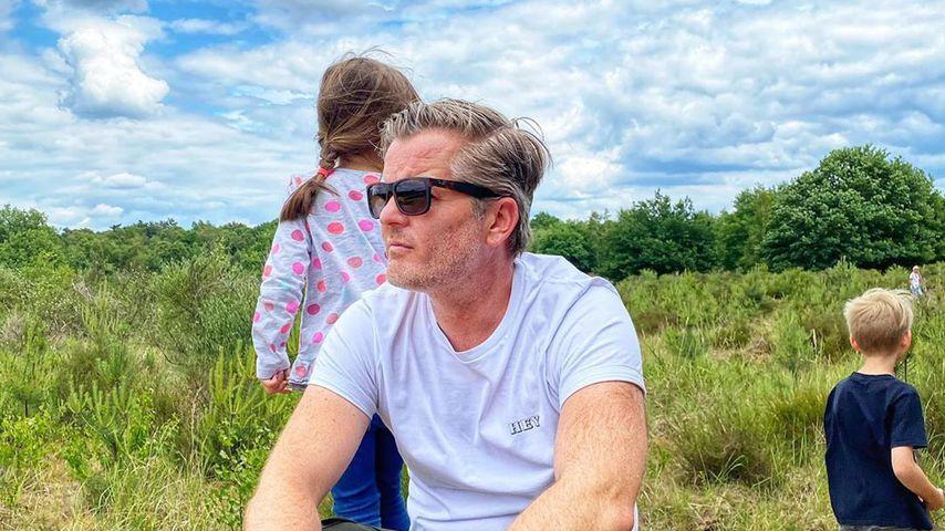 André Dietz mit seinen Kindern