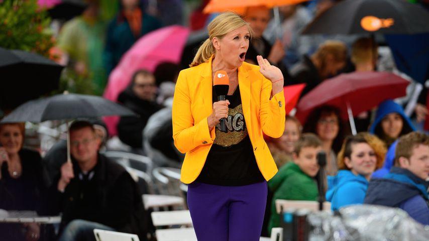 "Andrea Kiewel im ""ZDF-Fernsehgarten"", Mai 2014"