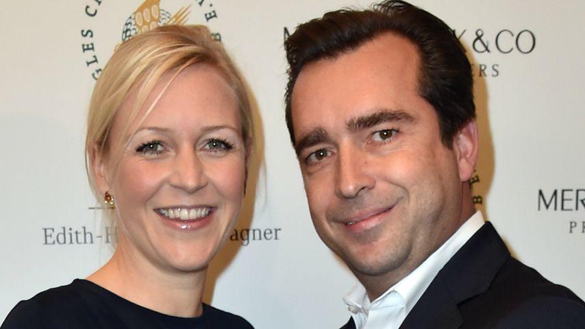 Andrea Mühlbauer und Falk Raudies auf einer Charity-Gala in München
